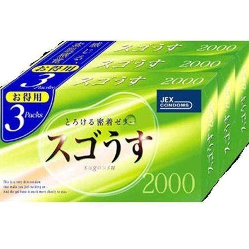 【送料無料】【激安6箱セット販売】スゴうす 2000°(12個入×3パック)【コンドーム】