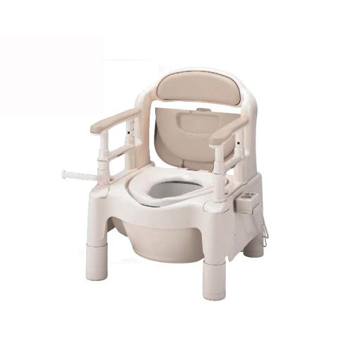 【送料無料】ポータブルトイレ ちびくまくん FX-CPHD-C暖房、快適脱臭、キャスター付きベージュ