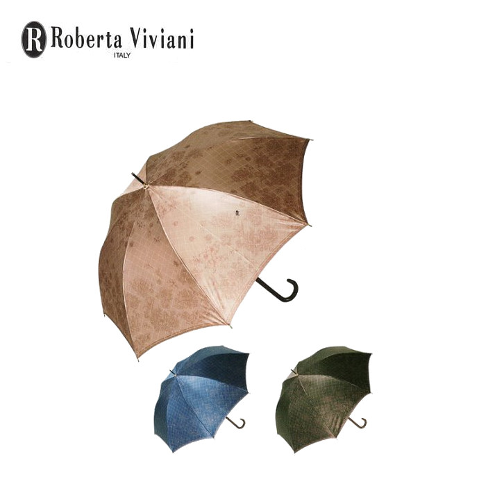 うっすらと浮かびあがる花柄模様 婦人傘 レディース傘 ストア 大人用 Roverta Viviani ロベルタ ウォールフラワー 長傘 祝日 ネイビー ブラック ジャンプ傘 60cm ブラウンの3色