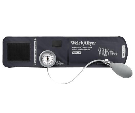 ウェルチ・アレン 血圧計 デュラショック DS44-12 ゲージ 一体型 成人用(大)カフ付【血圧計】【アネロイド血圧計】【ウェルチ・アレン】【病院仕様】