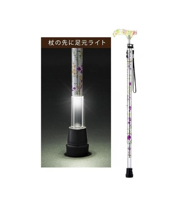 光る杖 ライトケイン(伸縮型)【杖】【ステッキ】【介護用品】【歩行】【歩行訓練】