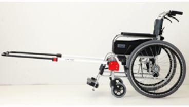 簡易装着型けん引式車いす補助装置JINRIKI QUICK(クイック)【車いす用補助装置】【車椅子用関連商品】【緊急防災用品】