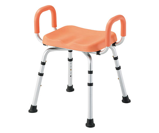 PUシャワー椅子 (手すり付) HS4430 PC【介護用品】【入浴用品】【入浴介助】【入浴】【お風呂】【イス】