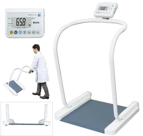 タニタ 業務用ハンドレール付き体重計[検定付] PH-550A ホワイト(代引き不可)【病院・施設向け体重計】【ヘルスメーター】