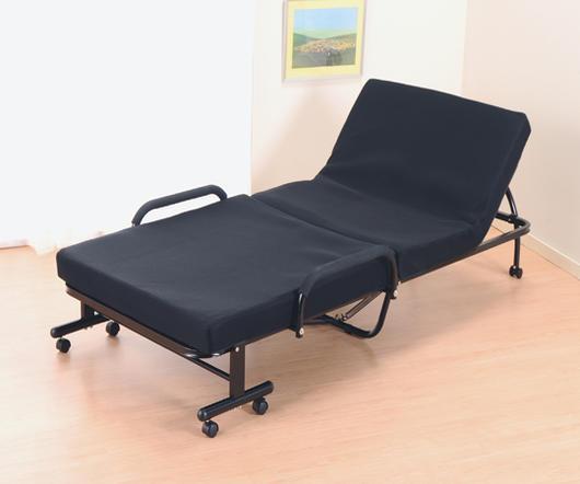 折りたたみベッド(低反発・組み立て式)※代引不可【簡易ベッド】【リクライニング】【収納】