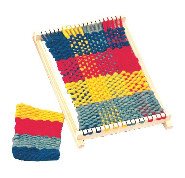 保障 織を始める一番最初の道具 実物 自分で糸を張って布を編む織り機です 手芸 はた織機 手おり AW0118 小