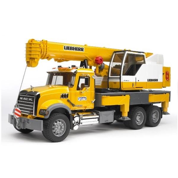 クレーン車 おもちゃ BRUDER ブルーダー MACK LH クレーン 02818