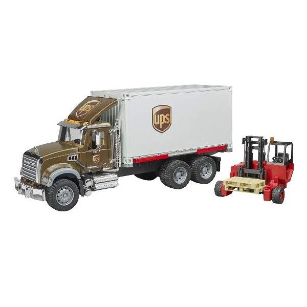 車のおもちゃ bruder ブルーダー MACK UPS&フォークリフト BR02828
