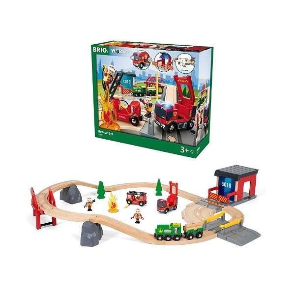 木のおもちゃ 木製レール BRIO ブリオ WORLD レスキューセット 33817