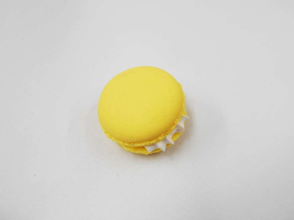 食品サンプル 人気ショップが最安値挑戦 マグネット マカロン イエロー 再入荷/予約販売!