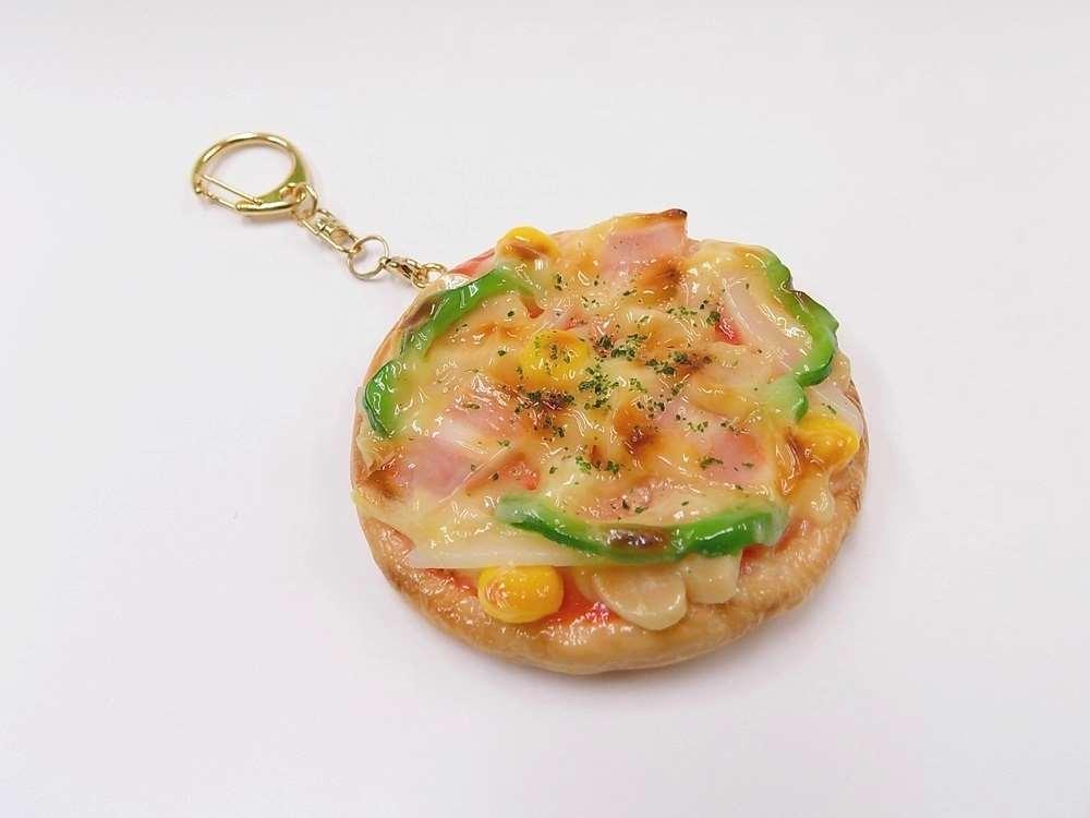 格安 価格でご提供いたします 食品サンプル キーホルダー 丸 40%OFFの激安セール ピザ