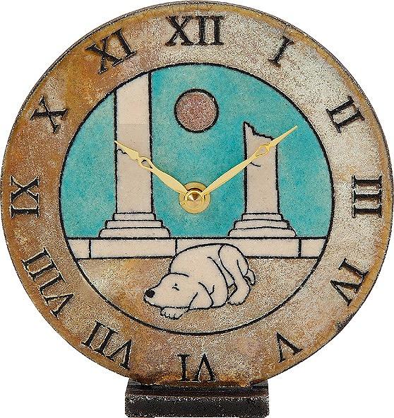 ザッカレラ置時計 (クオーツ) (陶器:イタリア製) ZC144-A04 [送料無料] 【楽ギフ_包装選択】【楽ギフ_メッセ入力】