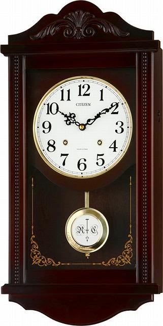 オルゴール付き掛時計 リズム時計(日本製) 4MJA01-RH06 [送料無料]