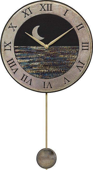 ザッカレラ掛時計 振り子付き (クオーツ) (陶器:イタリア製) ZC181-004 [送料無料]