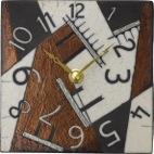 ザッカレラ掛・置き兼用時計 (クオーツ) (陶器:イタリア製) ZC188-009 [送料無料]