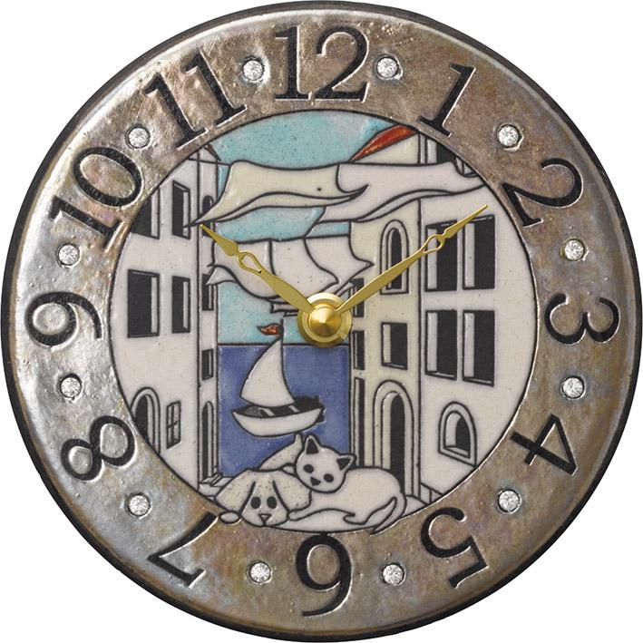 ザッカレラ掛時計(クオーツ) (陶器:イタリア製) ZC904-004[送料無料]