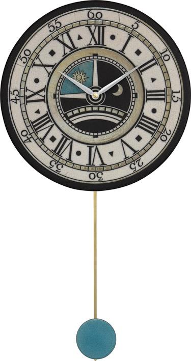 ザッカレラ振り子掛時計(クオーツ)(陶器:イタリア製) ZC180-003[送料無料]