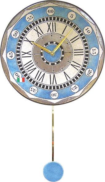 ザッカレラ振り子掛時計(クオーツ)(陶器:イタリア製) ZC135-004[送料無料]