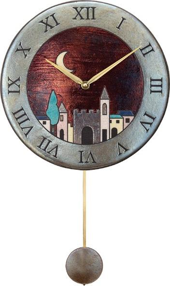ザッカレラ振り子掛時計(クオーツ)(陶器:イタリア製) ZC152-001[送料無料]