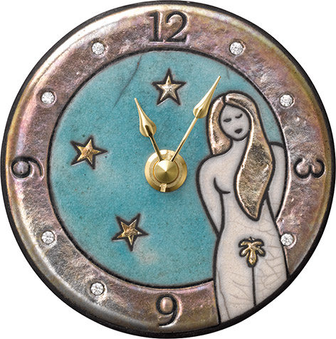 ザッカレラ掛時計(クオーツ)(陶器:イタリア製) ZC931-004[送料無料]
