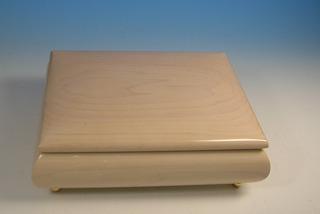 30弁オルゴール メープル(もみじ材)ボックス ミーティス ホワイト(ウッドニー製:日本)OE028-MH[送料無料]