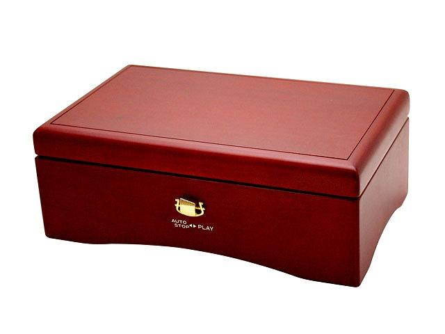 50弁オルゴール クルピシャ材ボックス ワインレッド EX237[送料無料]
