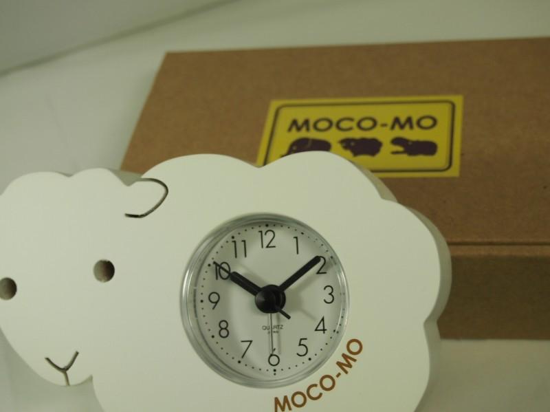mokomo鬧鐘羊(白)石英(日本製造)MM001-CW