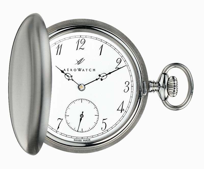 アエロ懐中時計(手巻き) 蓋付き(サボネットタイプ) スイス製 55824-AA01 [送料無料]