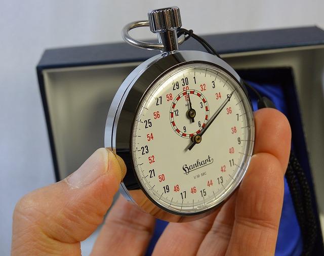 【ハンハルト hanhart】ストップウオッチ(1/10秒計、15分積算計内臓)112-10T ドイツ製 [送料無料]