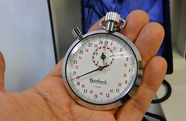 【ハンハルト hanhart】ストップウオッチ(1/10秒計、15分積算計内臓)122-10S ドイツ製 [送料無料]