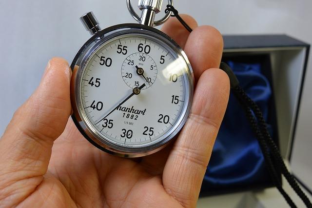 【ハンハルト hanhart】ストップウオッチ(1/5秒計、30分積算計内臓)112-5S ドイツ製 [送料無料]