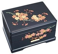 会津塗り宝石箱オルゴール (桜)サンキョー製(日本)B318A [送料無料] 【楽ギフ_包装選択】【楽ギフ_メッセ入力】