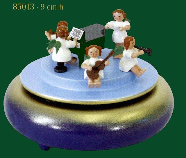 ドイツ エルツ山地の手作り 木のオルゴール エンゼル音楽隊 ドイツ製 85013 [送料無料]