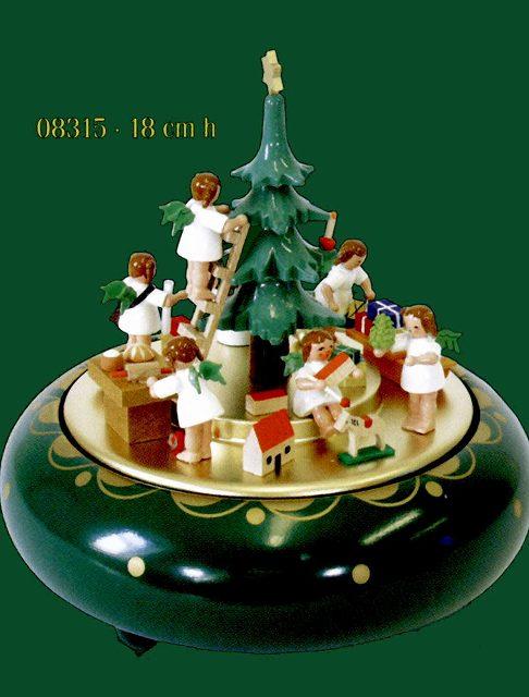 ドイツ エルツ山地の手作り 木のオルゴール クリスマスイブ ドイツ製 08315 [送料無料]
