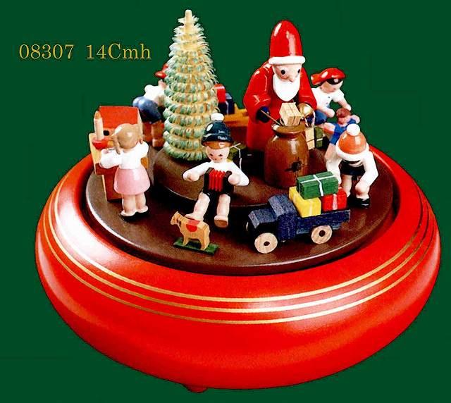 ドイツ エルツ山地の手作り 木のオルゴール クリスマスプレゼント ドイツ製 08307 [送料無料]