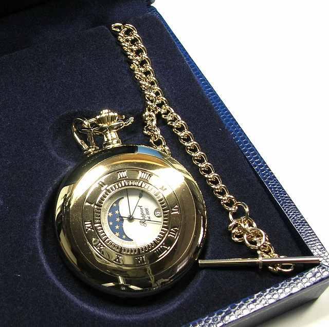 ラポート懐中時計  クォーツ (イギリスRapport社製)金色メッキ PW80 []