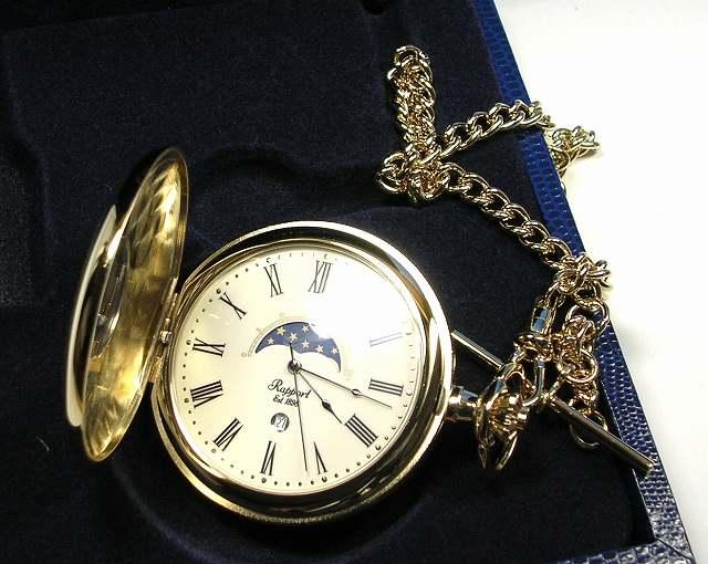ラポート懐中時計  クォーツ (イギリスRapport社製)金色メッキ PW80 [送料無料]