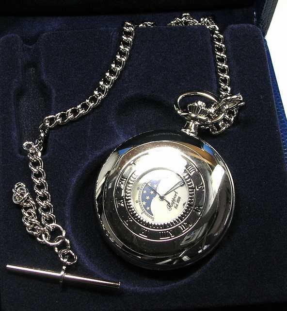 ラポート懐中時計  クォーツ (イギリスRapport社製)銀色メッキ PW81 []