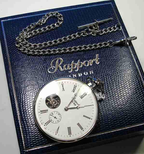 ラポート懐中時計  手巻き (イギリスRapport社製)バックスケルトン PW87 []