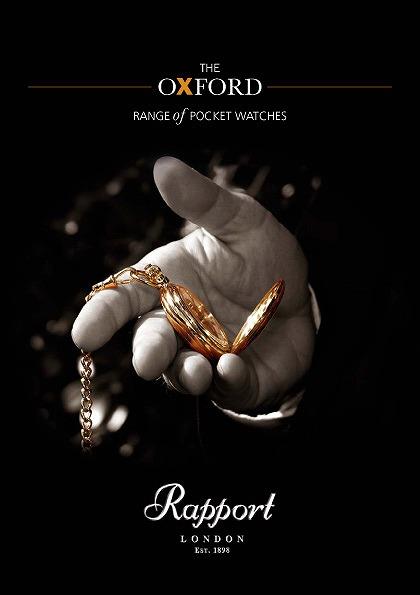 ラポート懐中時計  オープンフェイスタイプ 手巻き ローズゴールド金時計 (イギリスRapport社製)PW82 [
