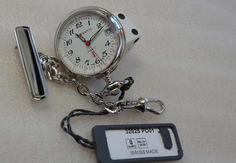 ナースウォッチ  女性用小型サイズ  (スイス 製)32825-PD01 [送料無料]