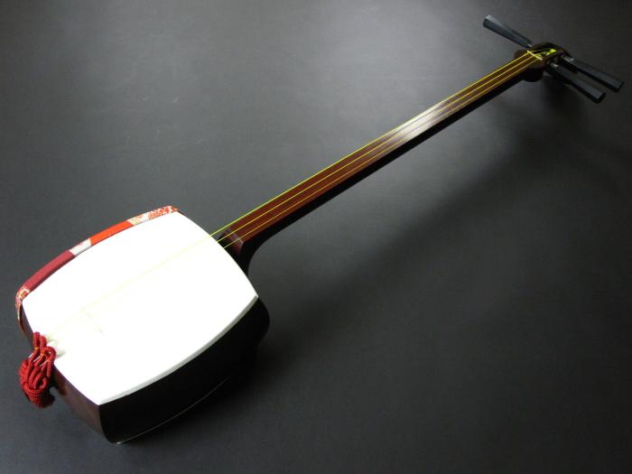 (上)民謡紅木三味線セット(A)