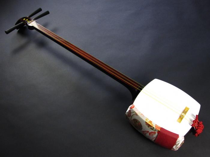 (特上)地唄紅木三味線セット(A)