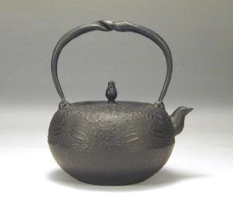 南部鉄瓶鉄鉢形 桜1.6リットル