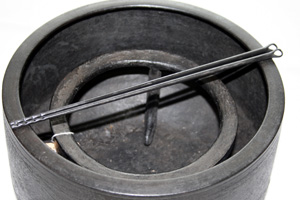 袋みず火箸(9寸3分) 桐箱付