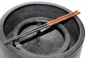 桑柄火箸(9寸3分) 桐箱付