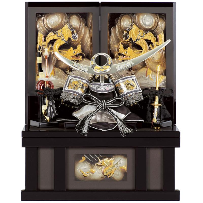 五月人形 収納兜飾り 龍神謙信 6号 コンパクト収納 端午の節句 皇宸作 A-004