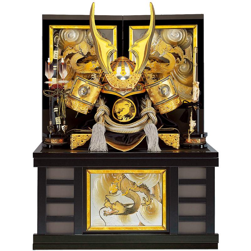 五月人形 着用収納兜飾り リアル金龍 25号(マグネット式)収納 端午の節句 皇宸作 B-047