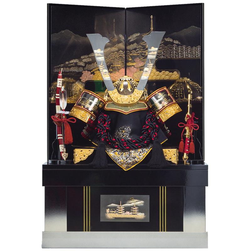 五月人形 着用収納兜飾り 古都 25号(上フタ式)収納 端午の節句 皇宸作 B-039