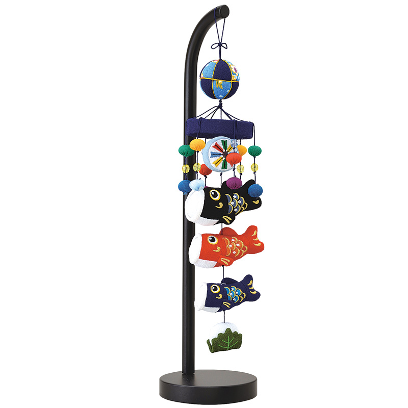 【室内鯉のぼり】 宝童 吊るし飾り 一本吊り 極小 立台付 2019年新作